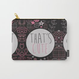 Cute & Floral. Carry-All Pouch