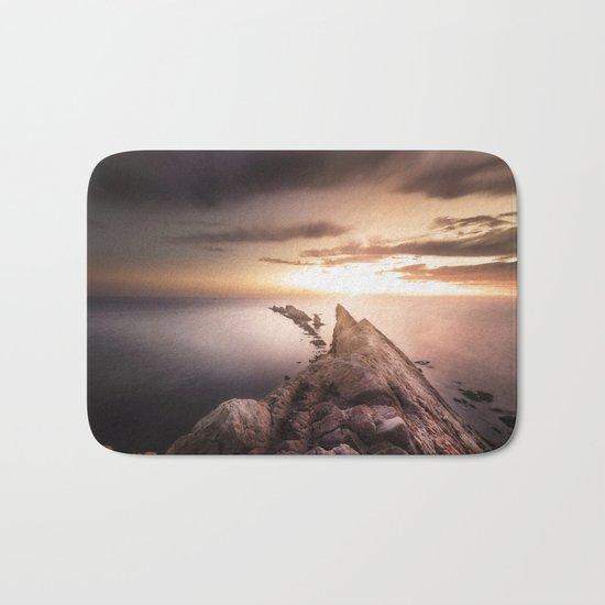 Sunset Coast, Waves and Rocks Bath Mat