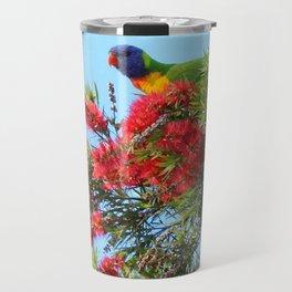 Rainbows and Brushes - Australian Lorikeet Travel Mug