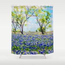 Bluebonnet Texas Shower Curtain