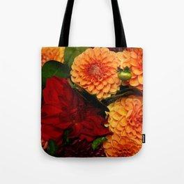 Autumn Dahlias Tote Bag
