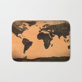 Abstract Earth Science Map Bath Mat