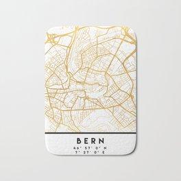 BERN SWITZERLAND CITY STREET MAP ART Bath Mat