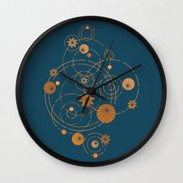 Lotus pool geometry Wall Clock
