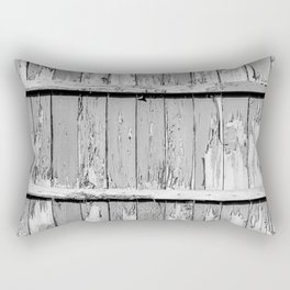Gray Paint Chipped Fence Rectangular Pillow