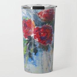 Roses in Rouge Travel Mug