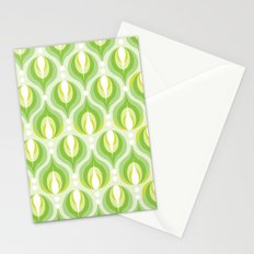 Green Dew Drops Stationery Cards