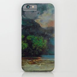 "Gustave Courbet ""Lac Léman avant la tempête (Lake Geneva before the storm)"" iPhone Case"