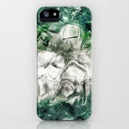 Ice Cubes in a Blue-Green Drink Abstract.   iPhone Case