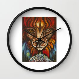 'Lynx' by Vanessa Stark Wall Clock