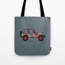 Jurassic Park Jeep Tote Bag