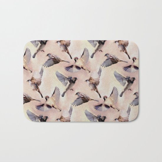 Sparrow Flight Bath Mat