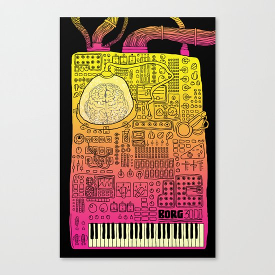 Borg 3000: ANALOG  Canvas Print