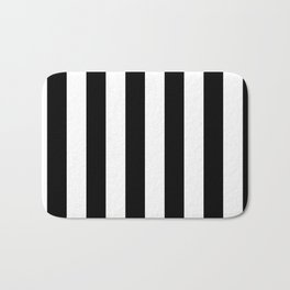 Black & White Vertical Stripes- Mix & Match with Simplicity of Life Bath Mat