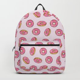 Strawberry Donuts on Pink Backpack