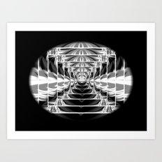 Black+White Abstract.Modern. Art Print