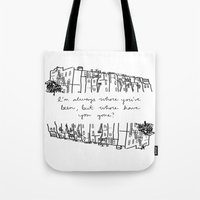 baltimore Tote Bags featuring Baltimore by Lasafro