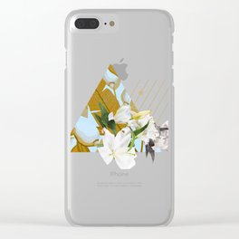 Tropical Flowers & Geometry Clear iPhone Case