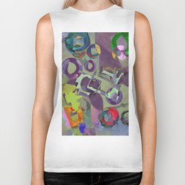 Living In A Purple Dream - Abstract, eclectic, random, purple. lilac, pastel artwork Biker Tank