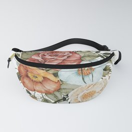 Roses and Poppies Fanny Pack