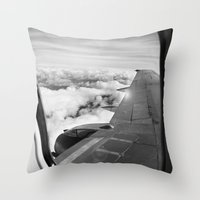 plane Throw Pillows featuring Plane by Laheff