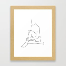 line art 3 Framed Art Print