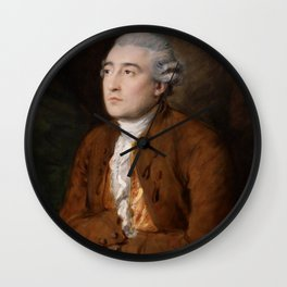 Philippe Jacques de Loutherbourg by Thomas Gainsborough  Wall Clock