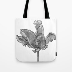 Monochromatic Orchid Tote Bag