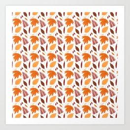 Winter orange brown gold botanical foliage Art Print