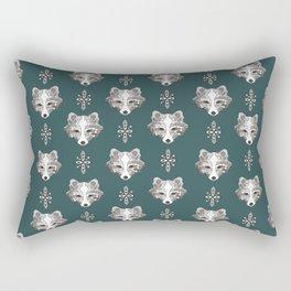 Arctic fox tribal print Rectangular Pillow