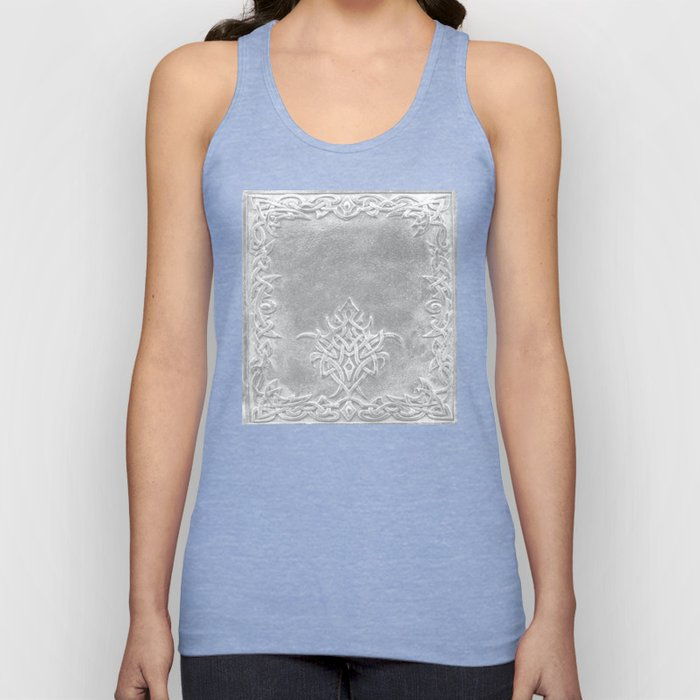 Tribal Edging Book Cover Light Unisex Tank Top