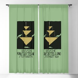 Stuttgart art expo: feed the birds Blackout Curtain