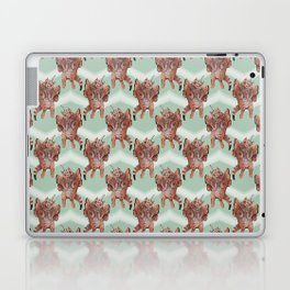 cat unicorn chevron mint Laptop & iPad Skin