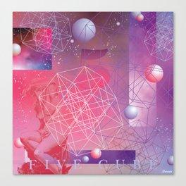 Five Cube Canvas Print