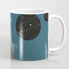 Through the window Green #pattern Coffee Mug
