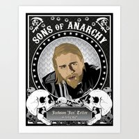 sons of anarchy Art Prints featuring Sons of Anarchy Series by Chad Trutt