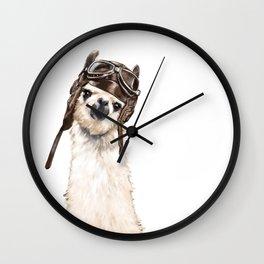 Pilot Llama Wall Clock