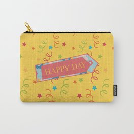 Happy day, joyful text Carry-All Pouch