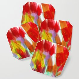 Meadow Flowers Abstract Coaster