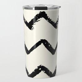 ZigZag Stripes on Ivory Travel Mug