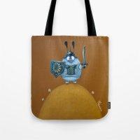viking Tote Bags featuring viking by Mirosedina