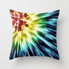 Abstract Dark Tie Dye Throw Pillow