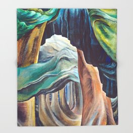 Emily Carr Forest British Columbia Painting Throw Blanket