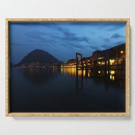 Lugano by night Serving Tray