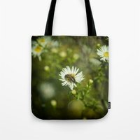 bee Tote Bags featuring Bee  by Rob Hawkins Photography