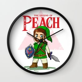 the legend of Peach Wall Clock