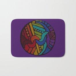 Rainbow Disc Bath Mat