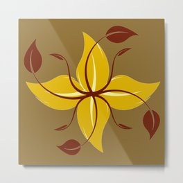 Autumn floral design Metal Print