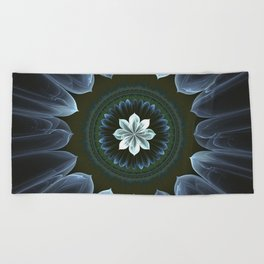 Blossom Within in White Beach Towel