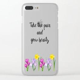 Grow Beauty Clear iPhone Case